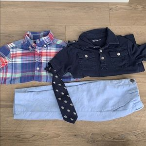 Lot of 4 boys dress clothes size 2T